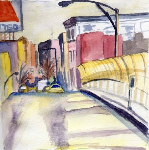 """Boston"" Watercolor on paper, 2013"