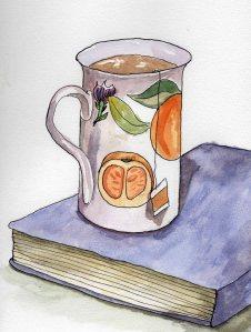 """Comfort"" Watercolor on paper, 2013"