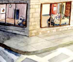 """Kelipas Nogah"" Watercolor on paper, 2012"