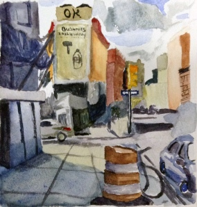 """NoHo"" Watercolor on paper, 2013"